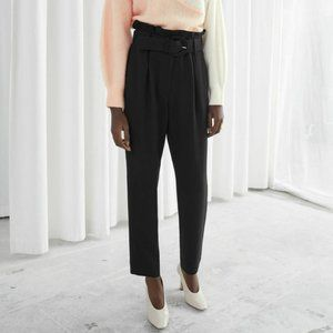 & Other Stories Blue Paperbag Waist Trousers